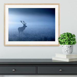 Red deer stag silhouette Framed Print - Canvas Art Rocks - 3