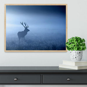 Red deer stag silhouette Framed Print - Canvas Art Rocks - 4
