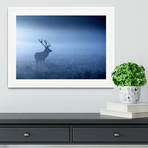 Red deer stag silhouette Framed Print - Canvas Art Rocks - 5