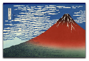 Red southern wind on Fiji on a clear morning by Hokusai Canvas Print or Poster  - Canvas Art Rocks - 1
