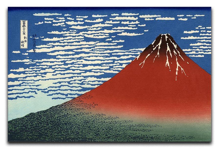 Red southern wind on Fiji on a clear morning by Hokusai Canvas Print or Poster