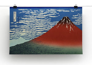 Red southern wind on Fiji on a clear morning by Hokusai Canvas Print or Poster - Canvas Art Rocks - 2