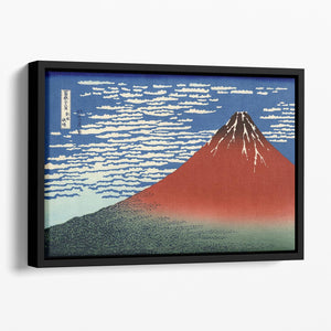 Red southern wind on Fiji on a clear morning by Hokusai Floating Framed Canvas