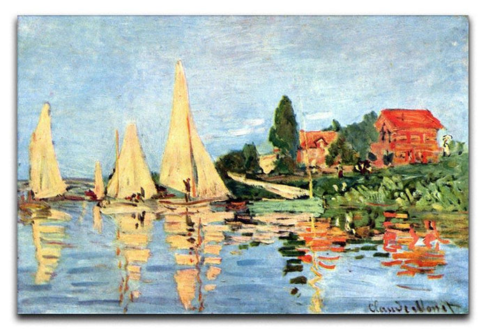 Regatta at Argenteuil by Monet Canvas Print or Poster