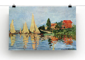 Regatta at Argenteuil by Monet Canvas Print & Poster - Canvas Art Rocks - 2