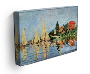 Regatta at Argenteuil by Monet Canvas Print & Poster - Canvas Art Rocks - 3