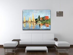 Regatta at Argenteuil by Monet Canvas Print & Poster - Canvas Art Rocks - 4