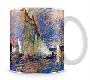 Regatta in Argenteuil by Renoir Mug - Canvas Art Rocks - 1