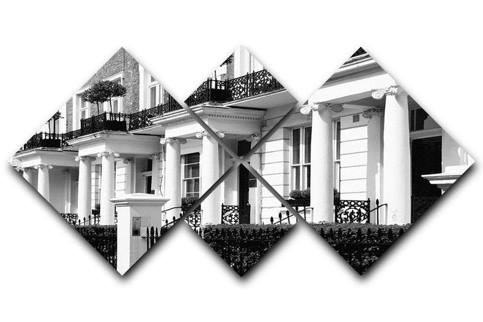 Regency Georgian terraced town house 4 Square Multi Panel Canvas