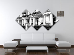 Regency Georgian terraced town house 4 Square Multi Panel Canvas  - Canvas Art Rocks - 3
