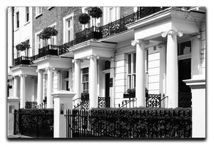 Regency Georgian terraced town house Canvas Print or Poster  - Canvas Art Rocks - 1
