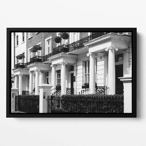 Regency Georgian terraced town house Floating Framed Canvas