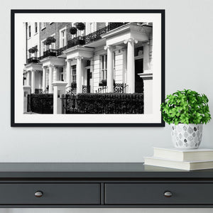 Regency Georgian terraced town house Framed Print - Canvas Art Rocks - 1
