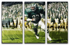Reggie White 3 Split Panel Canvas Print - Canvas Art Rocks - 1