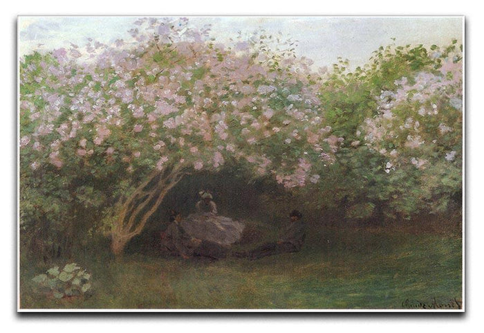 Repos sous les lilas 1872 by Monet Canvas Print or Poster