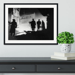 Rescuers in Soho London Framed Print - Canvas Art Rocks - 1