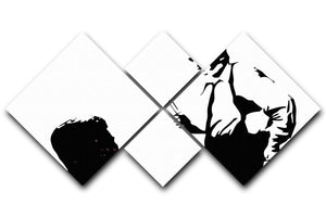 Reservoir Dogs Black and White 4 Square Multi Panel Canvas  - Canvas Art Rocks - 1
