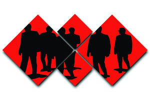 Reservoir Dogs Red 4 Square Multi Panel Canvas  - Canvas Art Rocks - 1