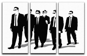 Reservoir Dogs Silhouettes 3 Split Panel Canvas Print - Canvas Art Rocks