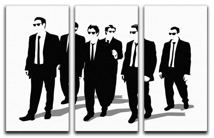 Reservoir Dogs Silhouettes 3 Split Panel Canvas Print