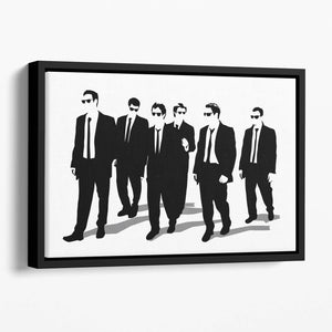 Reservoir Dogs Silhouettes Floating Framed Canvas