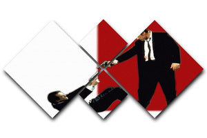 Reservoir Dogs Stand-Off 4 Square Multi Panel Canvas  - Canvas Art Rocks - 1
