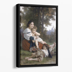 Rest By Bouguereau Floating Framed Canvas
