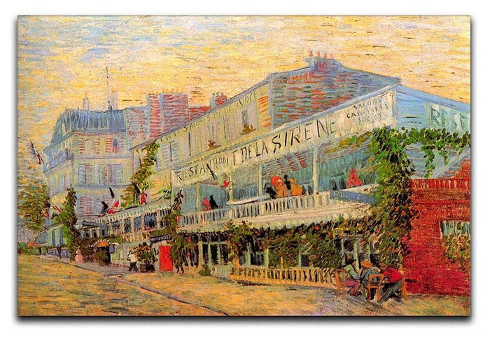 Restaurant de la Sirene at Asnieres by Van Gogh Canvas Print or Poster