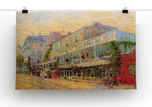 Restaurant de la Sirene at Asnieres by Van Gogh Canvas Print & Poster - Canvas Art Rocks - 2