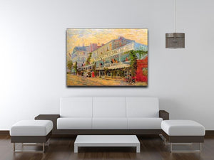 Restaurant de la Sirene at Asnieres by Van Gogh Canvas Print & Poster - Canvas Art Rocks - 4