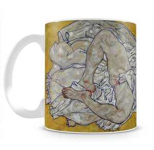 Resting nude by Egon Schiele Mug - Canvas Art Rocks - 1