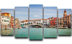 Rialto Bridge 5 Split Panel Canvas  - Canvas Art Rocks - 1