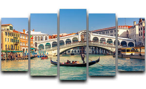 Rialto Bridge Venice 5 Split Panel Canvas  - Canvas Art Rocks - 1