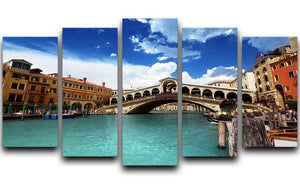 Rialto bridge in Venice 5 Split Panel Canvas  - Canvas Art Rocks - 1