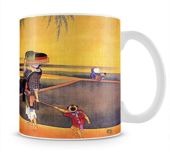 Rice fields by Hokusai Mug