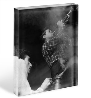 Richard Burton in Dont Look Back in Anger Acrylic Block - Canvas Art Rocks - 1