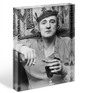 Richard Harris wearing a crown Acrylic Block - Canvas Art Rocks - 1