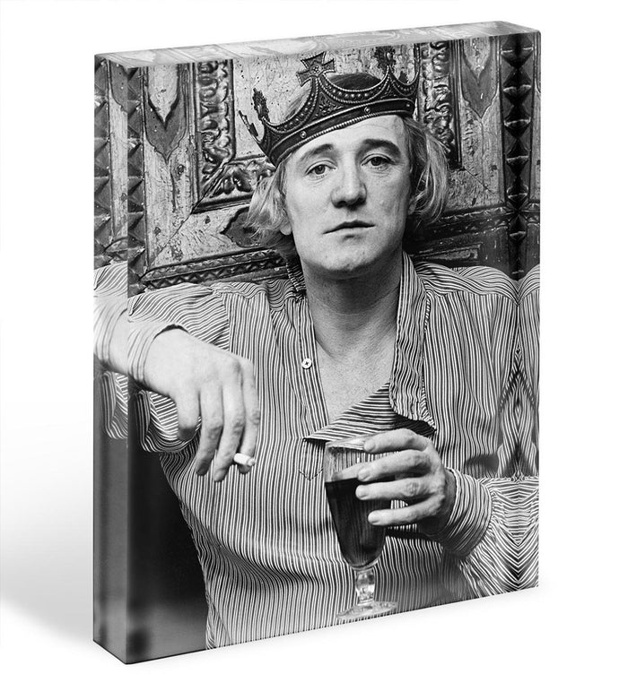 Richard Harris wearing a crown Acrylic Block