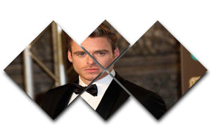 Richard Madden Body Guard 4 Square Multi Panel Canvas  - Canvas Art Rocks - 1