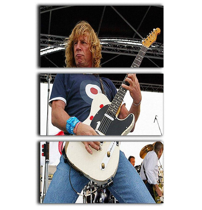 Rick Parfitt of Status Quo 3 Split Panel Canvas Print