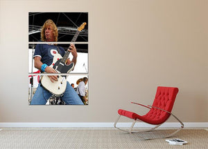Rick Parfitt of Status Quo 3 Split Panel Canvas Print - Canvas Art Rocks - 2