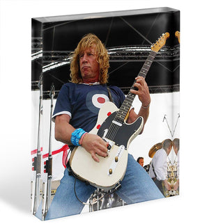 Rick Parfitt of Status Quo Acrylic Block - Canvas Art Rocks - 1