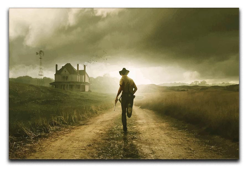 Rick Running The Walking Dead Print - Canvas Art Rocks - 1