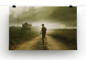 Rick Running The Walking Dead Print - Canvas Art Rocks - 2