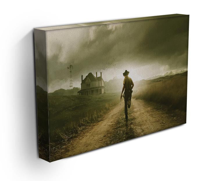 Rick Running The Walking Dead Print - Canvas Art Rocks - 3