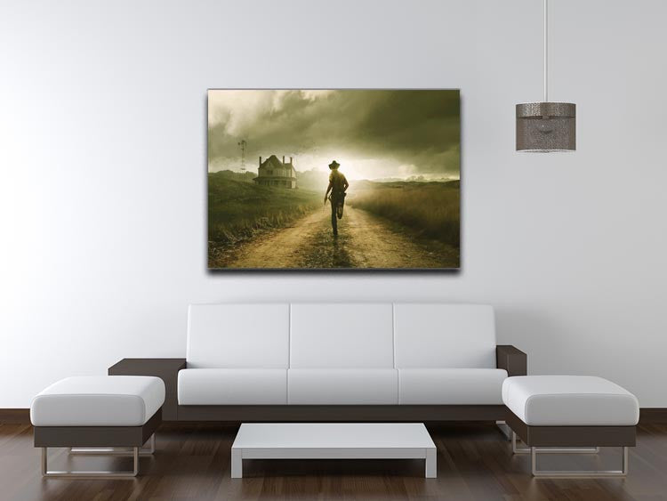 Rick Running The Walking Dead Print - Canvas Art Rocks - 4