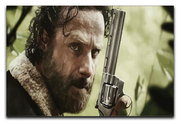 Rick With Gun The Walking Dead Canvas Print or Poster
