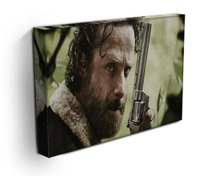 Rick With Gun The Walking Dead Print - Canvas Art Rocks - 3