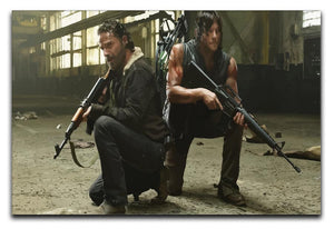 Rick and Daryl The Walking Dead Print - Canvas Art Rocks - 1