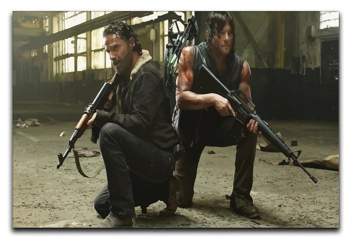 Rick and Daryl The Walking Dead Canvas Print or Poster